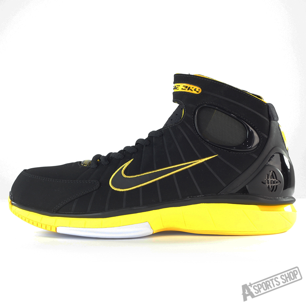 Nike (male) nike air zoom huarache 2k4 basketball shoes  black/yellow-308475003