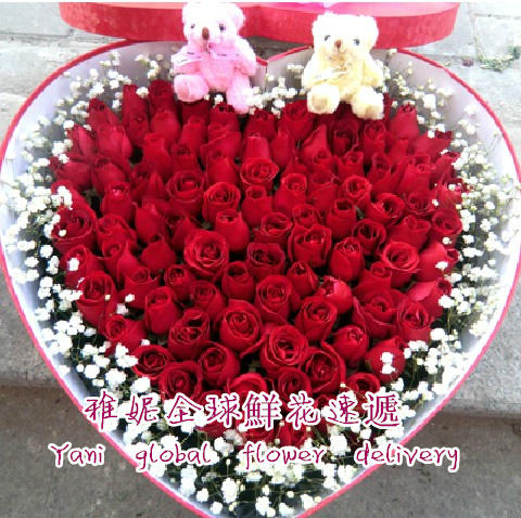 Hong kong hong kong florist flowers flower delivery order flowers tanabata valentine's day birthday 33 red roses flower + Gift box
