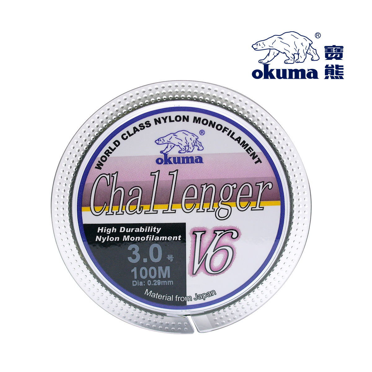Okuma bao bear fishing challenger v6 a 180m dark green nylon fishing line fishing line