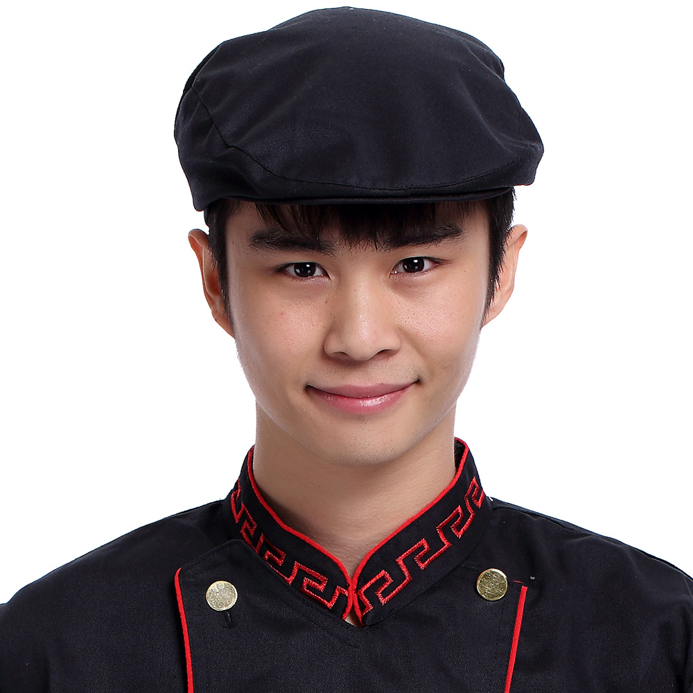 Amy xin si hotel restaurant cafe hotel restaurant waiter work hat chef hats for men and women in black