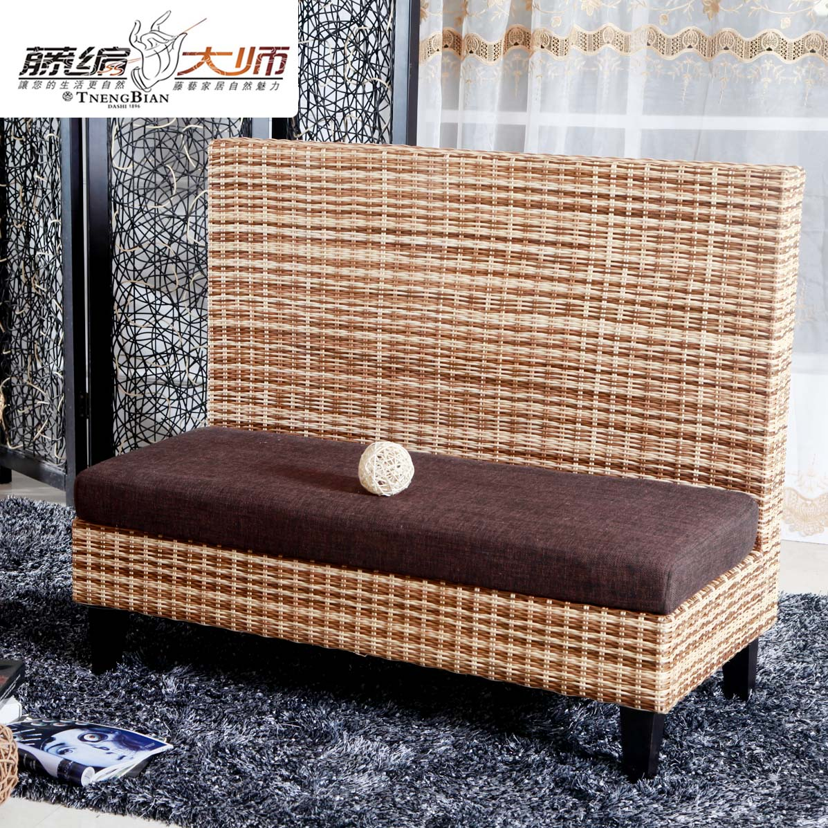 Can come to the amount of size hotel made rattan deck restaurant deck sofa ktv club cafe cafe deck