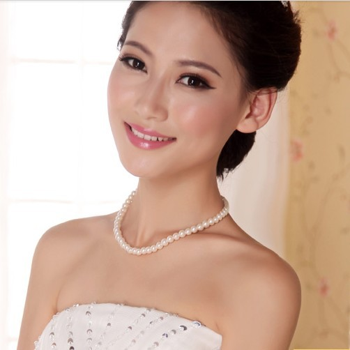 Bai approximately necklace bridal necklace pearl necklace bride wedding bridesmaid dress wedding dress essential accessories XL13005