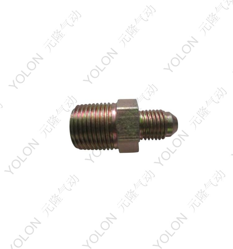 [Yolon yuan long pneumatic hydraulic] straight outside the teeth through connector transition joints hydraulic fittings outside the teeth