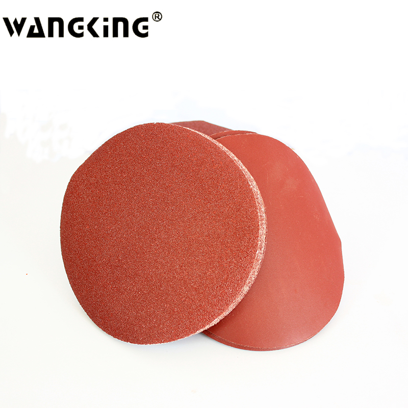 7 inch 180MM wall sander sandpaper disc sander sandpaper/brushed back velvet piece/flocking adhesive sandpaper 180 Mm