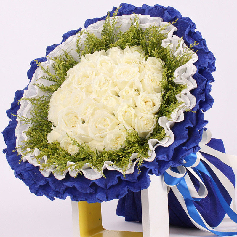China white new rock china white new rock shopping guide at alibaba get quotations 19 white roses bouquet flower delivery flower shop chongqing chongqing zhongxian nanchuan rock lovers confession flowers mightylinksfo