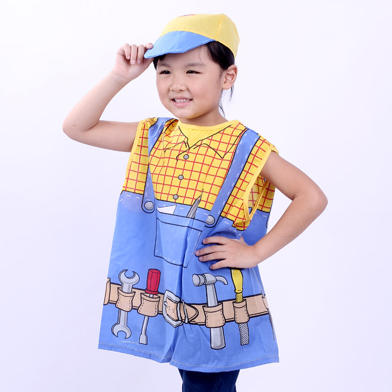 Love novelty children's day dress up games for children performing the role of professional clothing clothes for children engineering service division