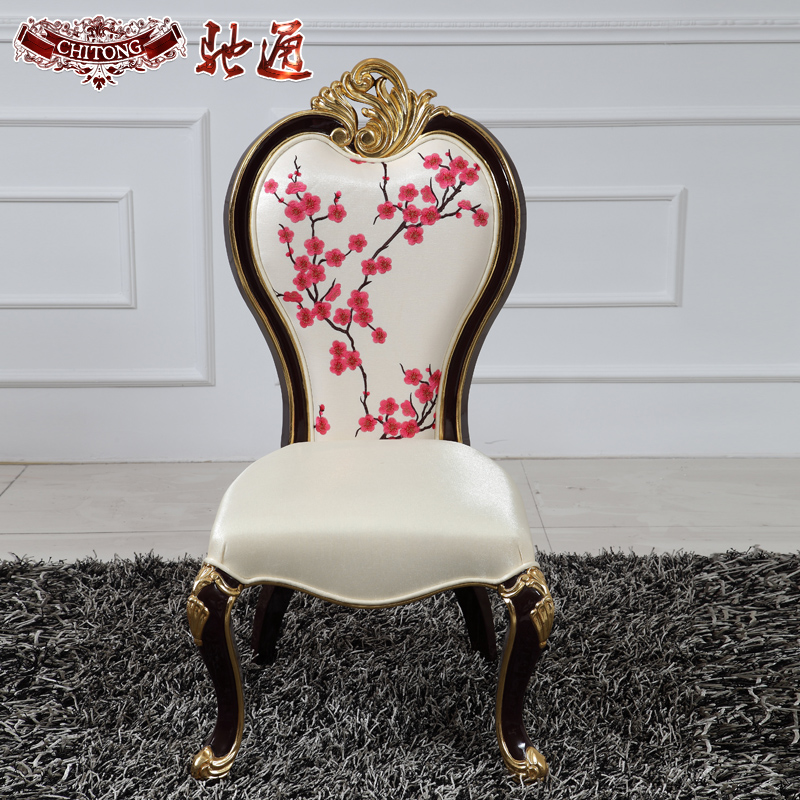 Chi tong neoclassical furniture furniture hotel villa furniture european solid wood dining chair new chair
