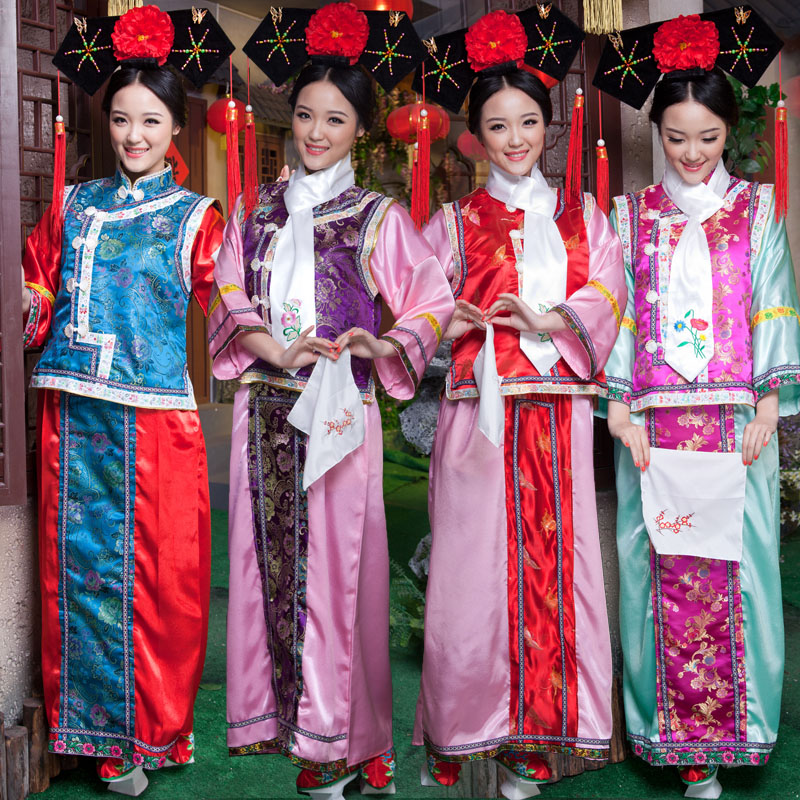 b7378307d Get Quotations · Qing dynasty princess costume clothing female costume zhen  huan flag clothing including children's clothing ladies clothes