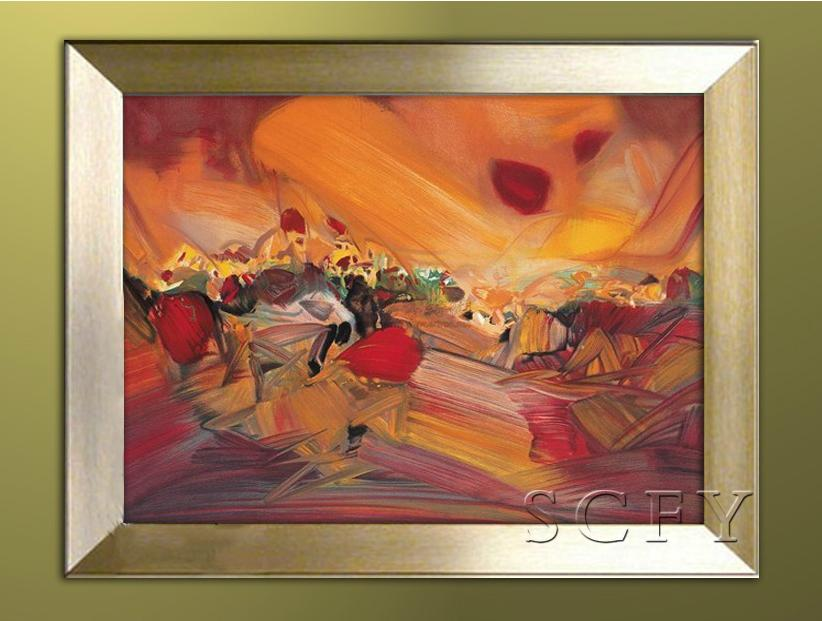 Pure hand painted oil painting modern decorative painting framed painting the living room entrance mural paintings abstract paintings zhu dequn 21
