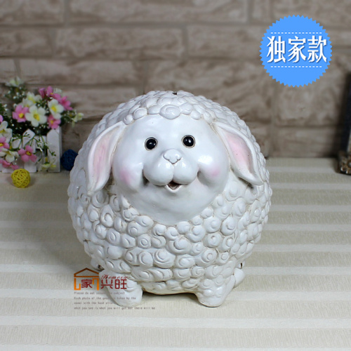 Home thriving 26cm sheep piggy piggy piggy creative cute oversized resin piggy piggy gifts for children