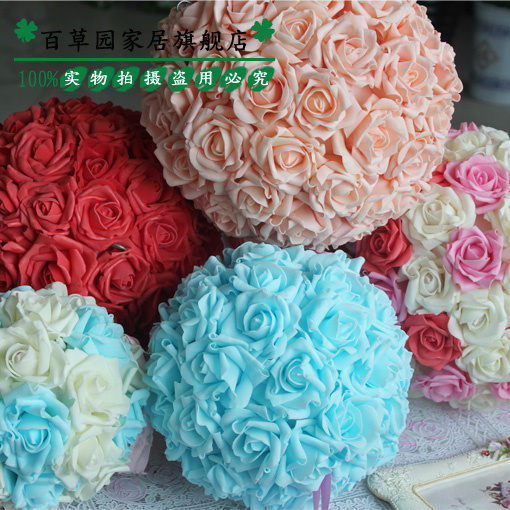 Korean multicolor roses artificial flowers wedding wedding flowers wedding simulation pe foam roses