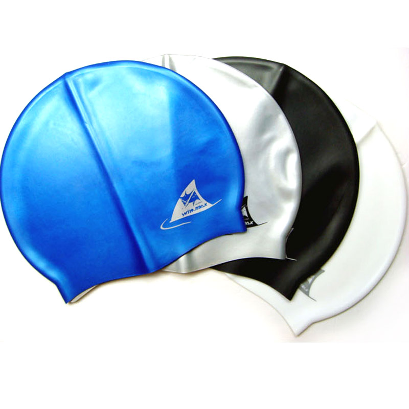 Wei masi genuine spa swimming cap ear waterproof silicone swimming cap for men and women swimming cap free shipping