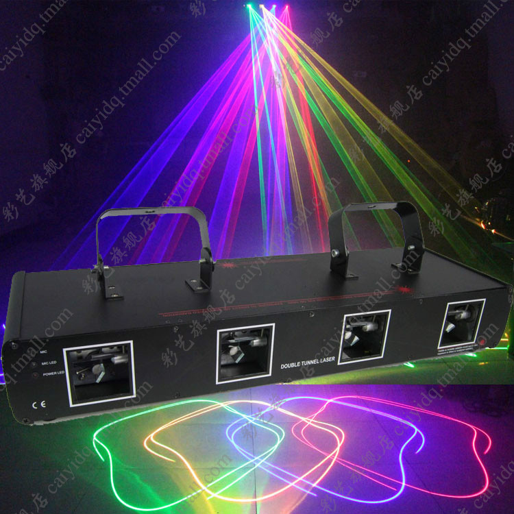 Caiyi four head four color laser light beam line laser light bar ballroom stage lighting effect light