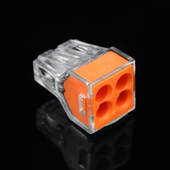 2.5 square hard wire connector wire connector 4 hole p building wiring connector terminals pct-104