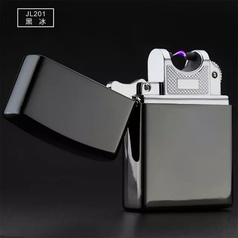 201 arc lighter kerosene black ice zippo windproof lighter creative personality electronic cigarette lighter usb charging lighter men