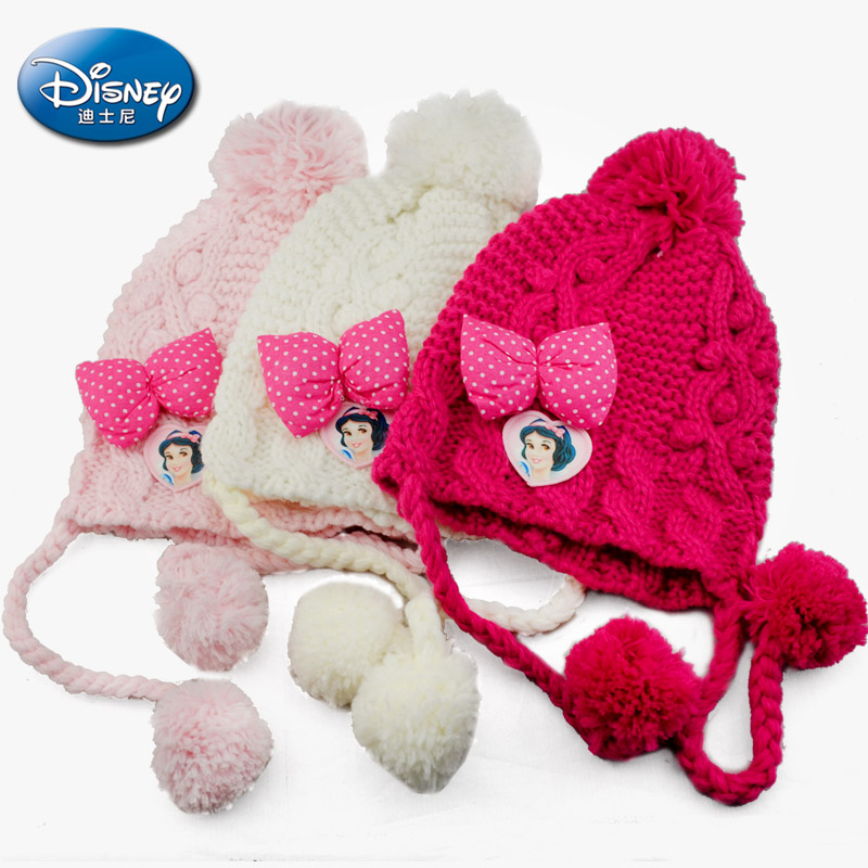 e26ac9f54 Get Quotations · 2015 disney princess cute baby knit hat ear warm hat  hedging knit hat winter hats for