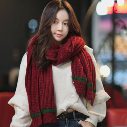 2015 korean version of the new autumn and winter scarves for men and women student couple warm scarf wool scarves female long section of thick