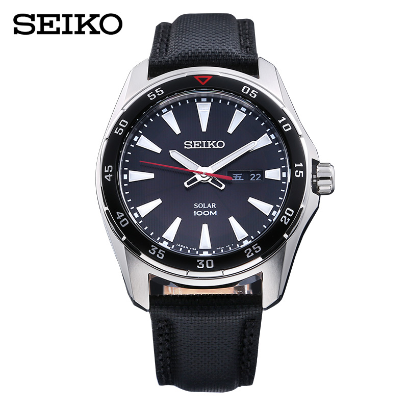 2015 new japan seiko seiko solar power solar series business quartz watch male table SNE393J2