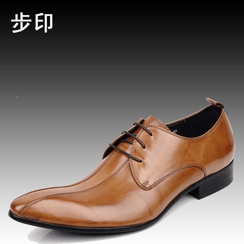 2015 new men's business shoes pointed woufo authentic british style european version of men's dress shoes wedding shoes
