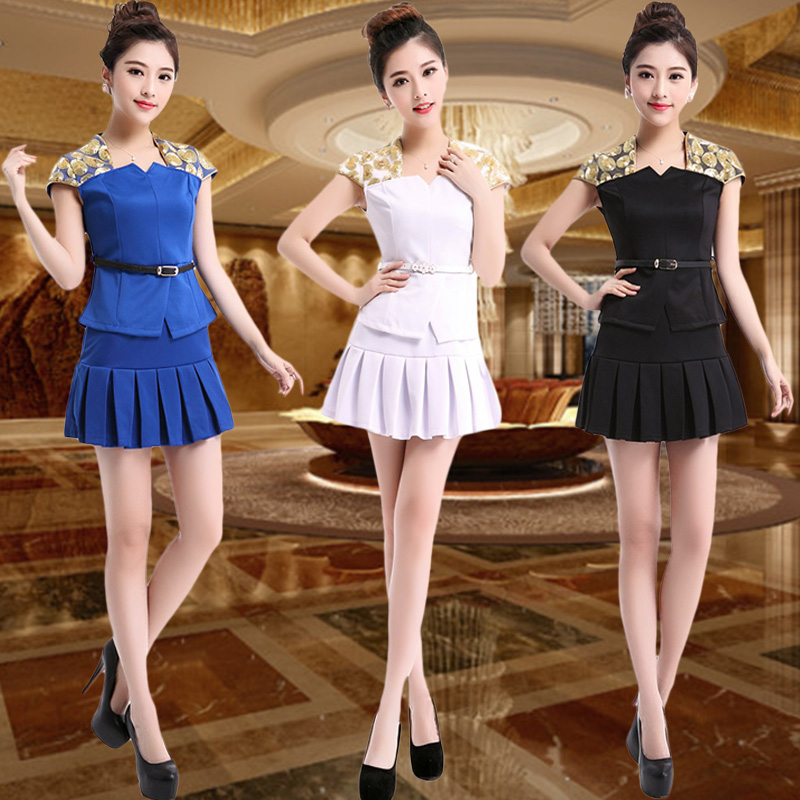 2015 new slim skirt overalls female beautician career suits sauna suits technician foot female technician service