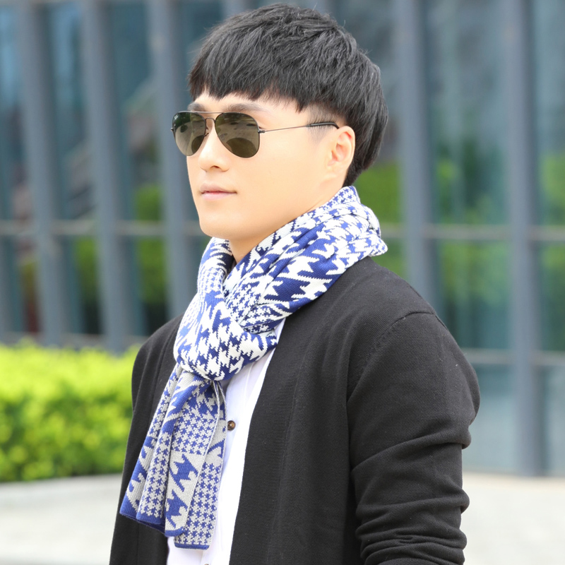 2015 new winter men's winter scarf wool scarves korean version of the influx of women paul warm scarf song xinier