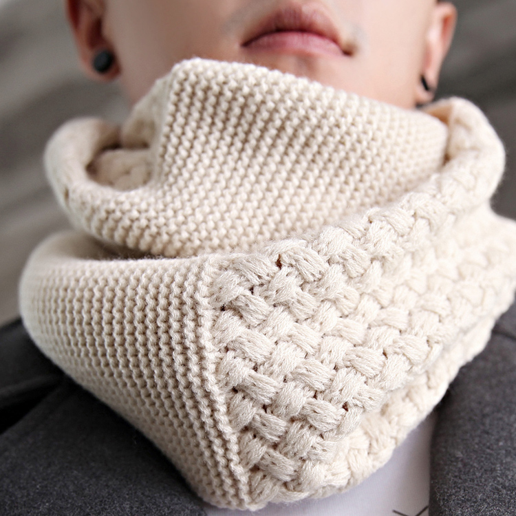 2016 autumn and winter new korean men wool scarf knitted scarf warm scarf collars collar hedging influx of women