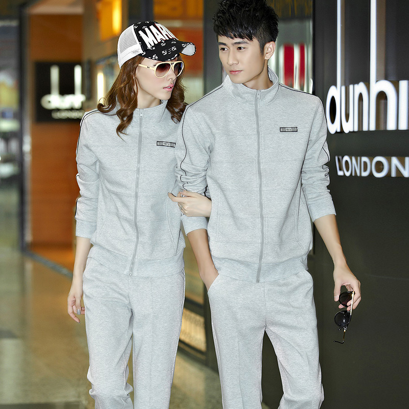 2016 autumn lovers sports suits for men and women couple jogging track suit piece spring and autumn sportswear suit