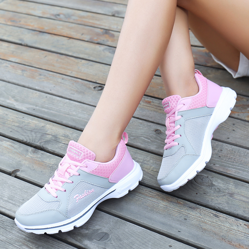 2016 autumn new ladies sports shoes running shoes breathable mesh shoes student shoes korean version of light will be of tourism and leisure shoes women