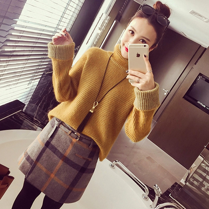 2016 autumn new women's winter influx of korean sweater suit women fall fashion sleeve dress skirt piece of autumn and winter