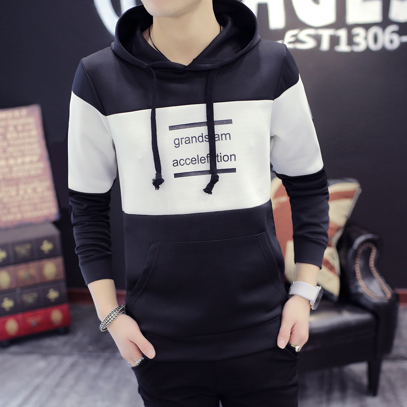 2016 autumn sweater men hedging slim round neck sweater tide male korean student sweater coat teenagers