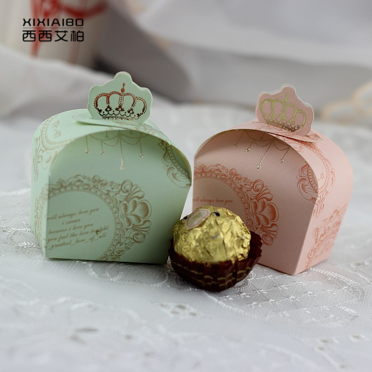 2016 crown candy box wedding celebration candy box candy box creative personality continental trumpet cute paper candy box