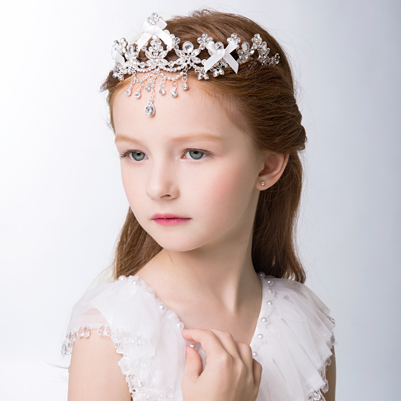 2016 crown frontlet headdress diamond jewelry hair accessories for children girls princess jewelry korean children hair accessories