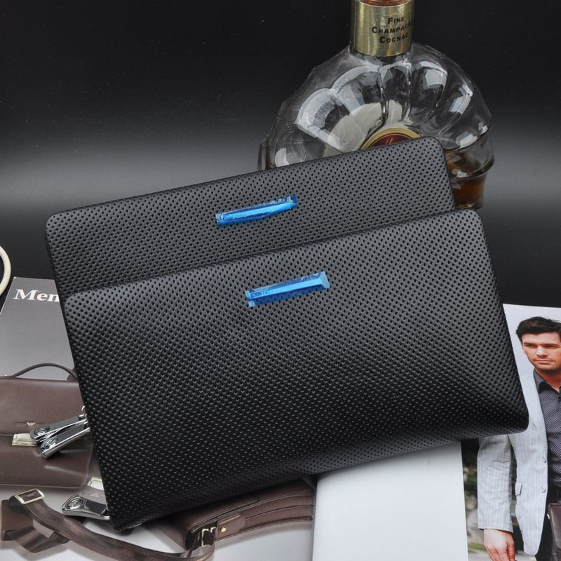 2016 double zhuo fan armani men's handbag leather clutch clutch bag korean version of the influx of casual men's soft leather clutch bag
