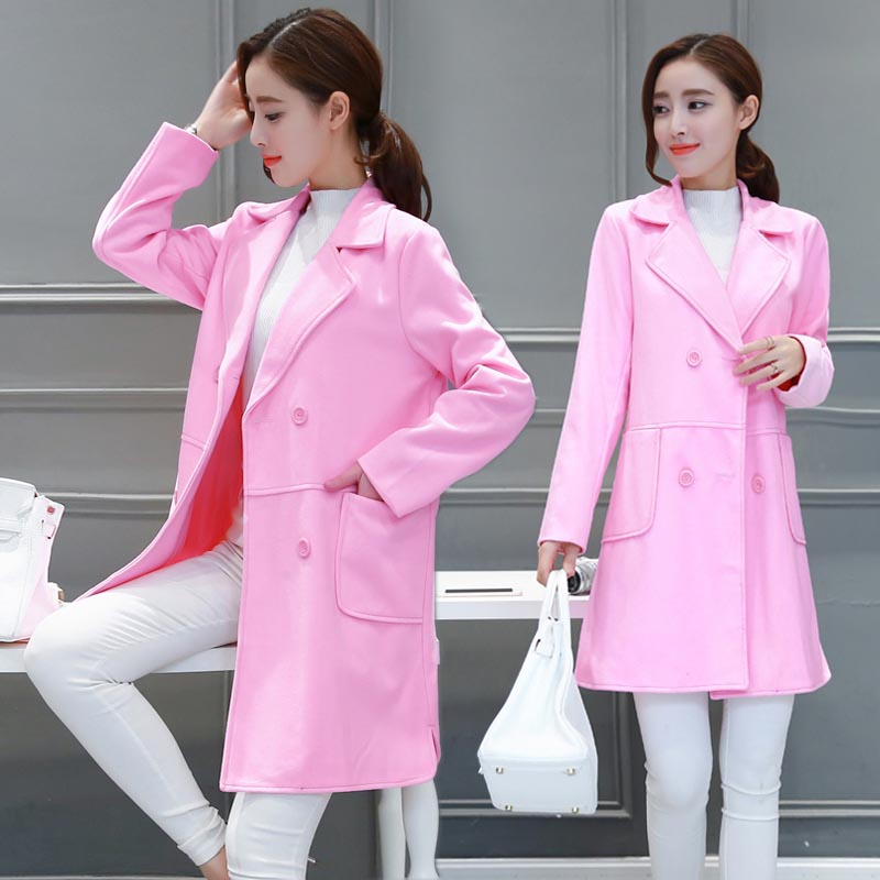 2016 fall and winter clothes maternity korean pregnant women coat woolen coat female thick winter coat and long sections autumn yfz