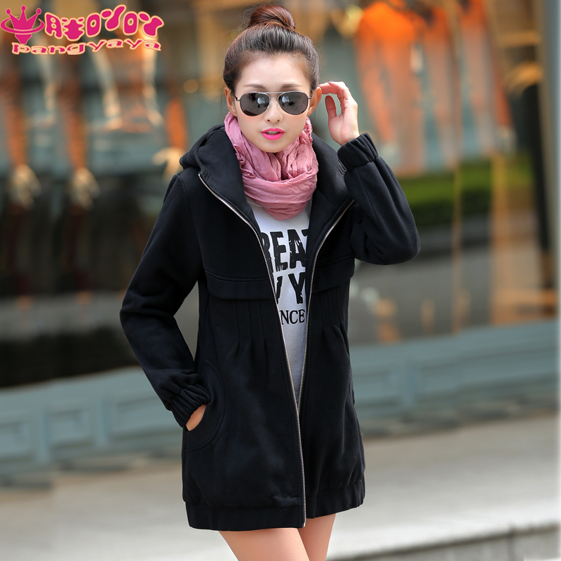 2016 free shipping fat mm autumn fertilizer to increase code sweater korean version of large size women's long coat 200