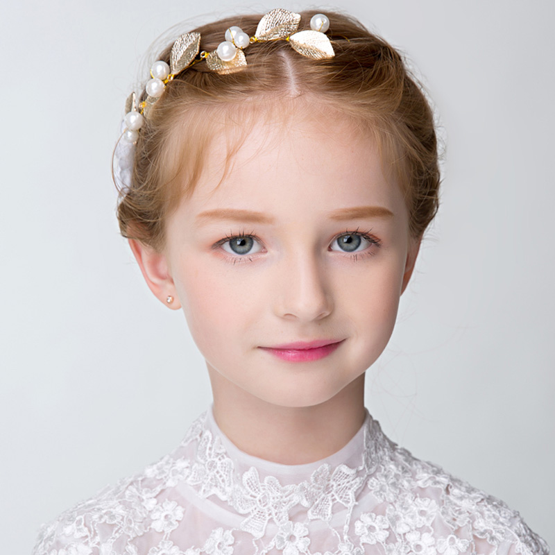 2016 korean girls headdress wreath performances for children children headdress hair accessories jewelry princess flower girl accessories head hoop