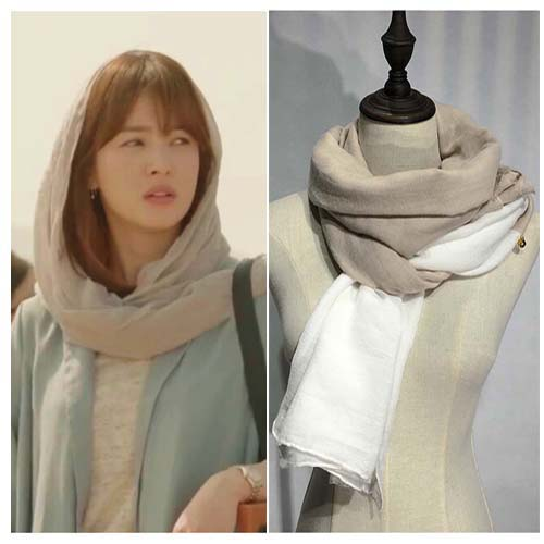 2016 korean version of spring and summer korean star the same paragraph chiffon scarf scarf color sun sunscreen shawl scarf