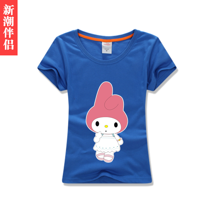 2016 miss xia kuan cotton cute little cartoon girl short sleeve cotton t-shirt t-shirt t-shirt was thin fresh