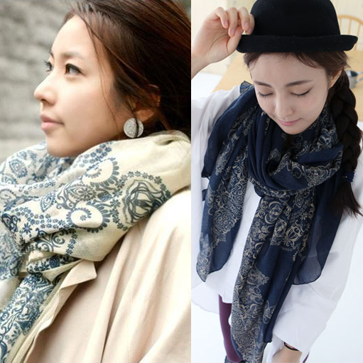 2016 new autumn and winter ms. korean version of the thin section of paris yarn scarf silk shawl collar chiffon a-02