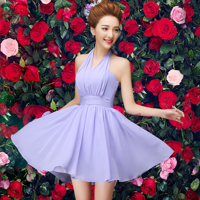 2016 new bridesmaid dress short paragraph bridesmaid dress purple bridesmaid dress mission sisters dress bridesmaid dress bridesmaid dress summer dress