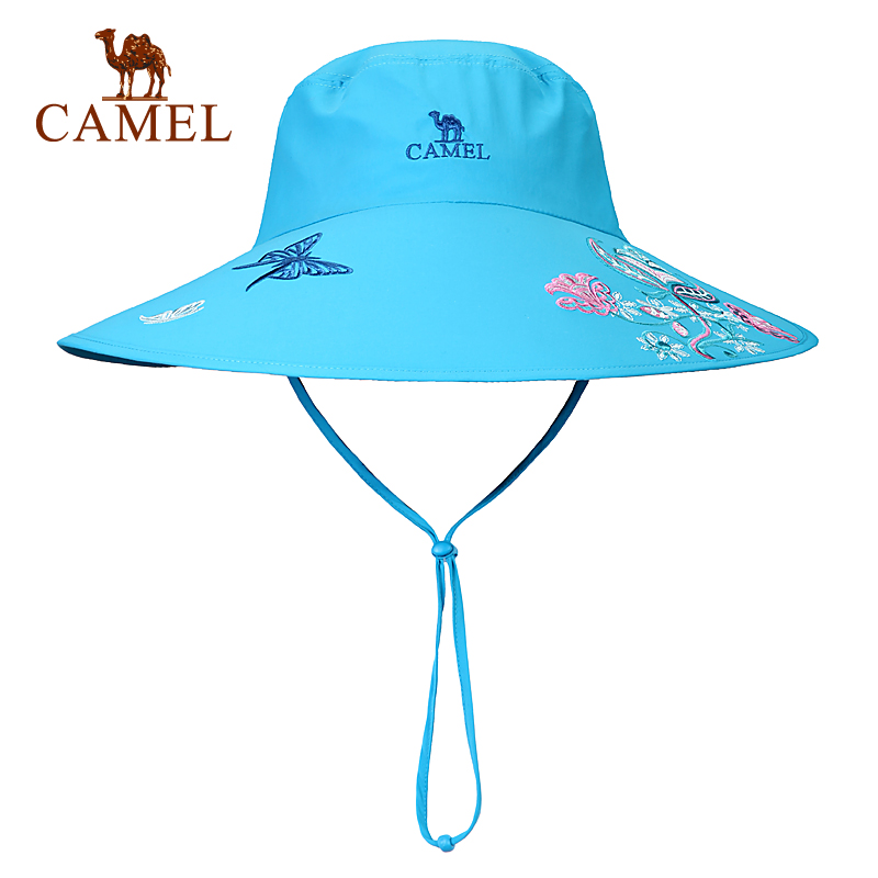 [2016 new] camel camel female models outdoor drying hat brimmed hat spring and summer comfort