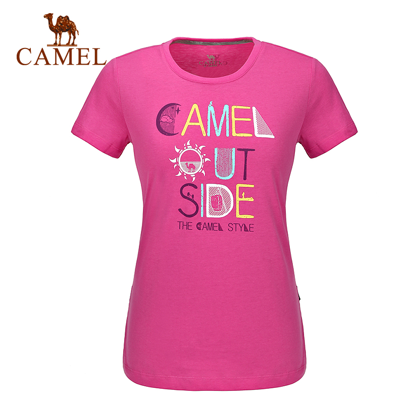 [2016 new] camel camel men and women casual round neck t-shirt spring and summer lovers t-shirt and comfortable fabric