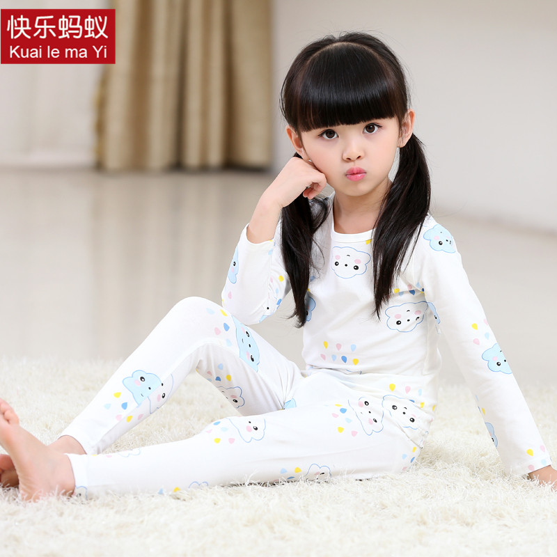 2016 new children's clothing girls long sleeve pajamas for children tracksuit baby underwear sets spring and autumn paragraph cotton children's clothing for girls