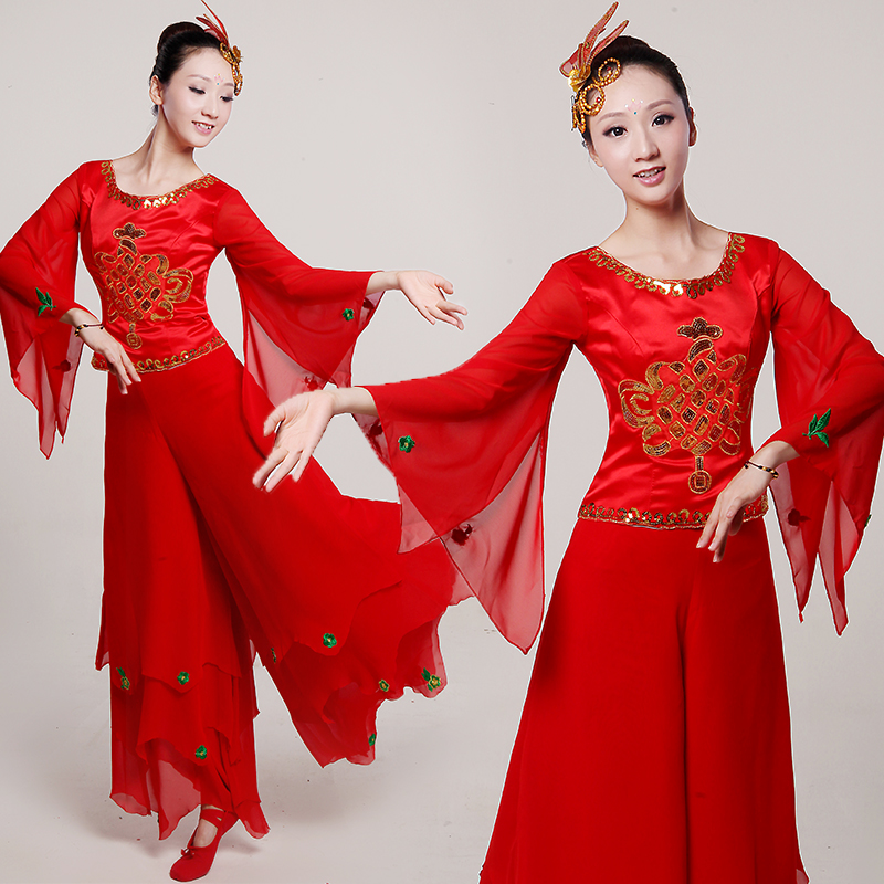 5271f628a Buy New classical dance clothes younger younger fan dance clothing ...