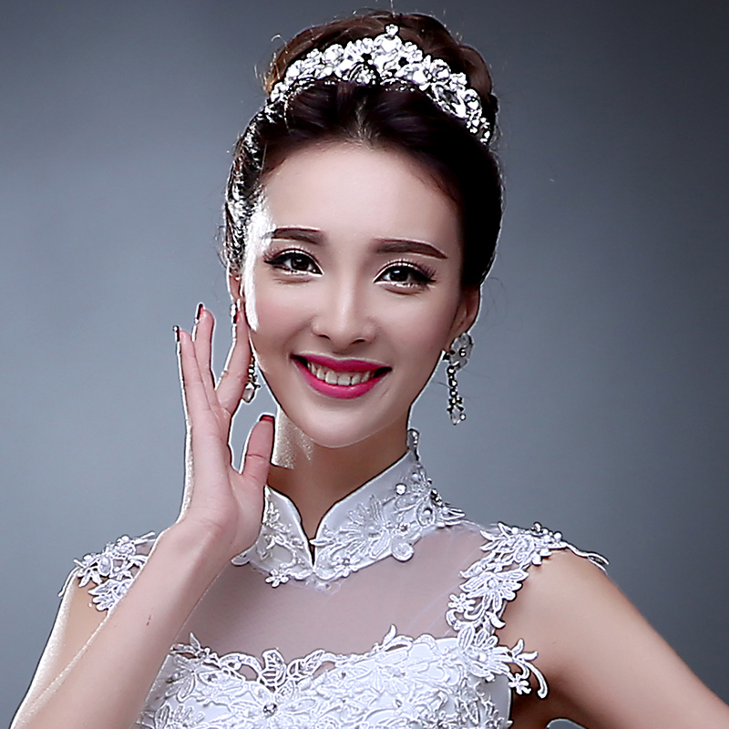 2016 new korean headdress hair accessories bridal accessories crown alloy package shoulder wedding dress with collar female summer