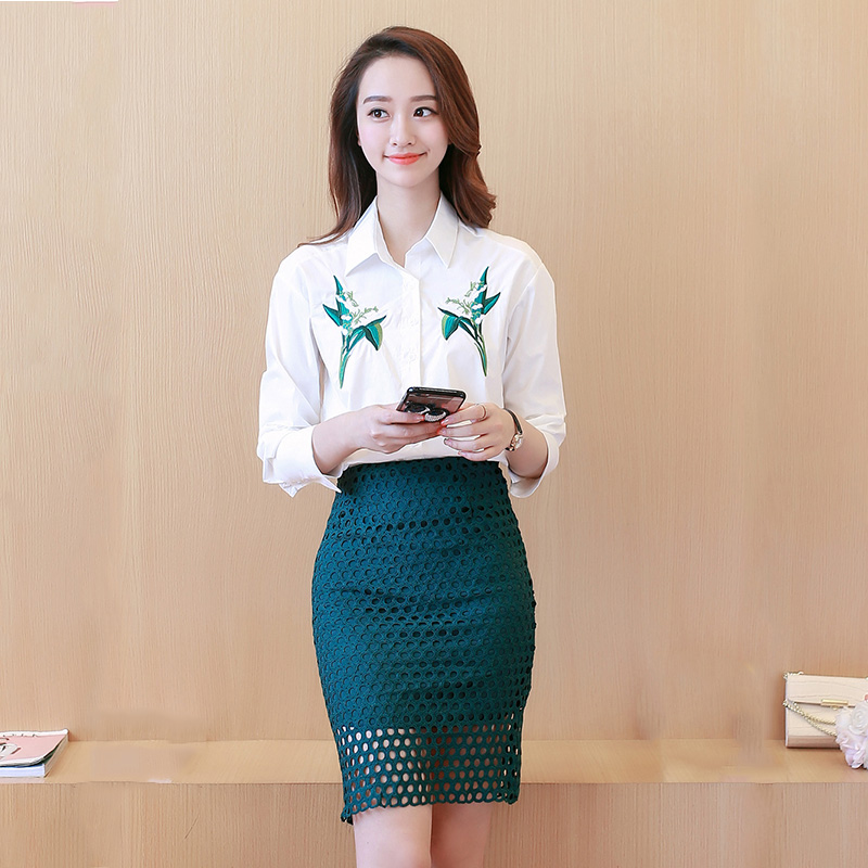 2016 new korean version of jane hereby piece skirt suit long sleeve ladies fashion trend personality slim students loaded