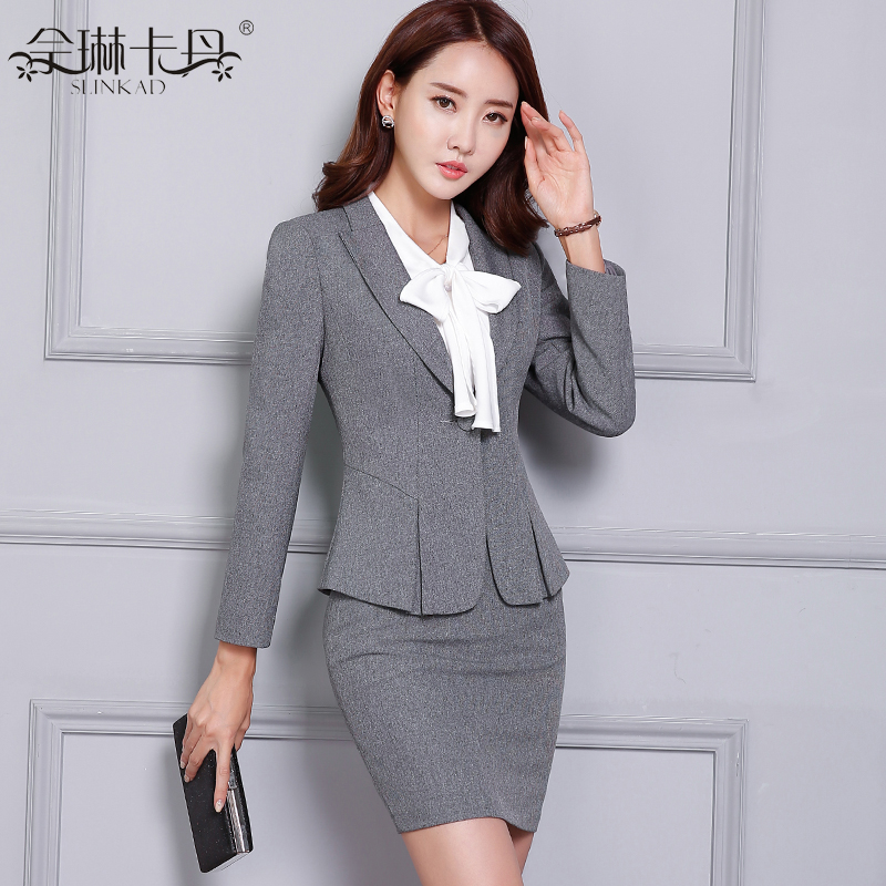 ea6e4cc7dffd Buy 2016 new slim women wear skirt suits interview suit business suits long  sleeve western suits overalls female tooling in Cheap Price on Alibaba.com