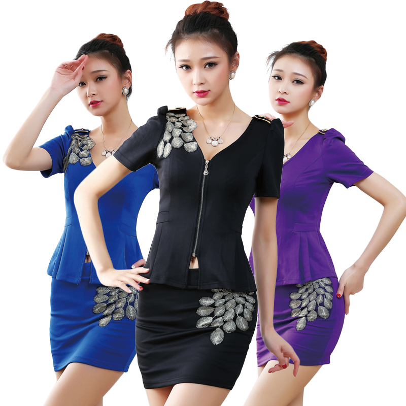 2016 new spring and summer ktv bar nightclub stewardess uniforms beautician hotel uniforms nightclub ktv princess clothing technology