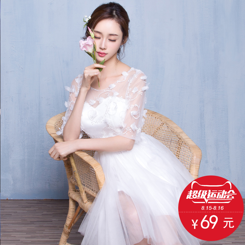 2016 new spring and summer wedding bridesmaid dress bridesmaid dresses sister group bridesmaid dress short paragraph slim banquet evening dress was thin