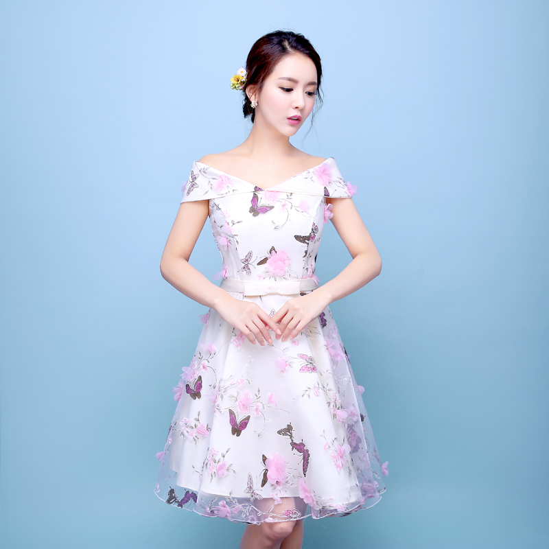 2016 new summer bridesmaid dress short paragraph sister group bridesmaid dress skirt moderator dress evening dress mini dress women